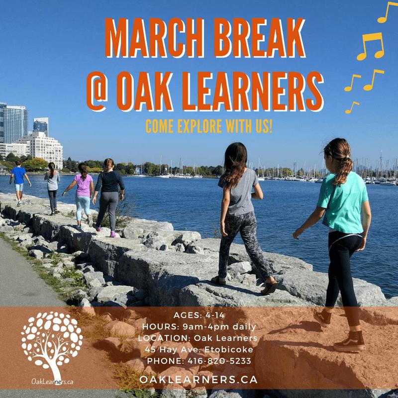 march break camp flyer oak learners etobicoke