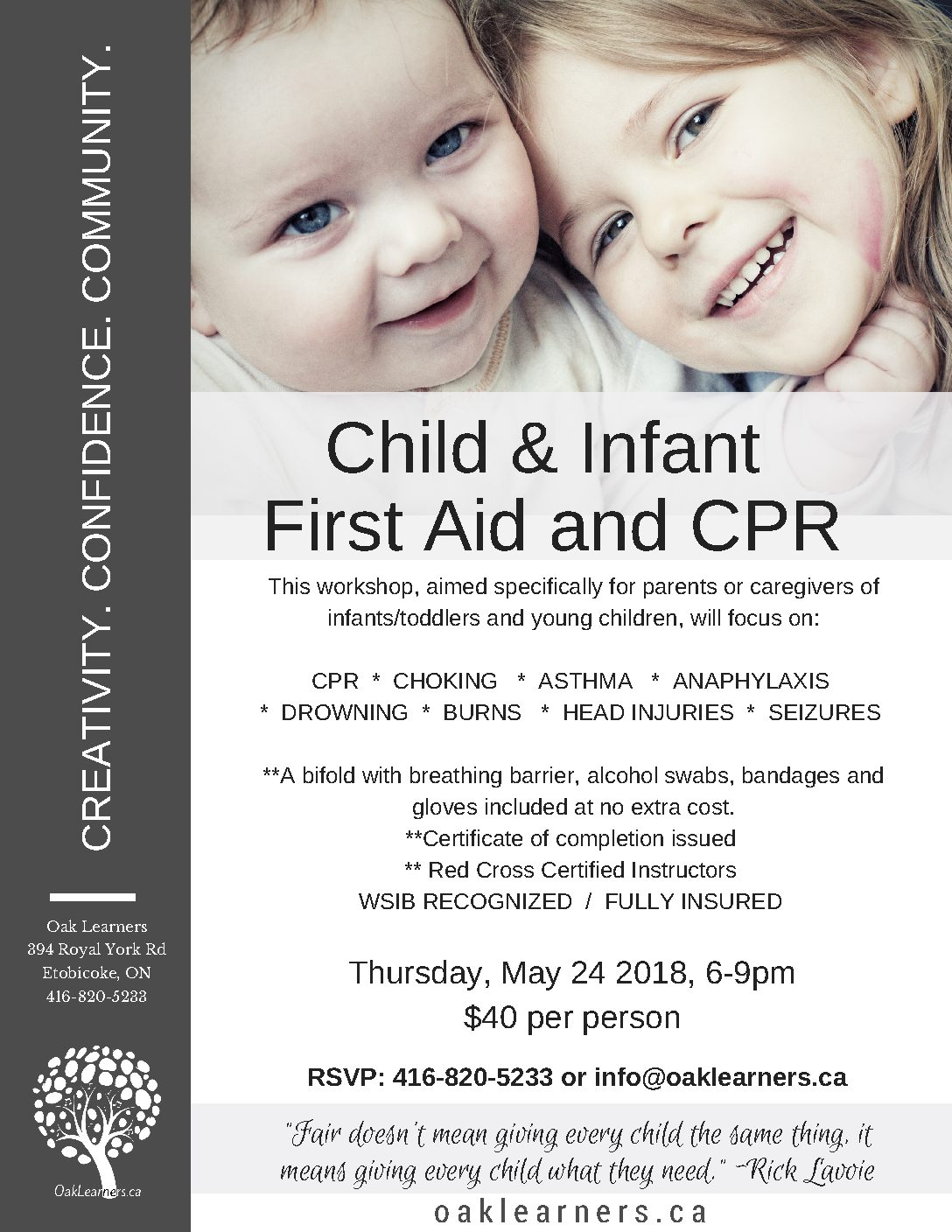 Child And Infant First Aid And Cpr Oak Learners