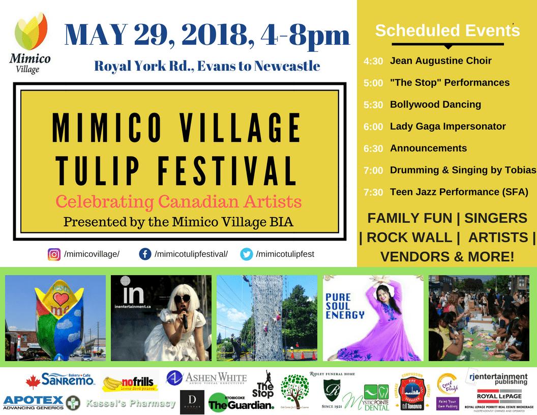 Mimico Village BIA presents the 16th annual Mimico Village Tulip Festival! 2018