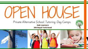 Oak Learners - open house