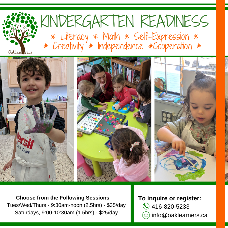 Kindergarten Readiness – Winter Term 2020