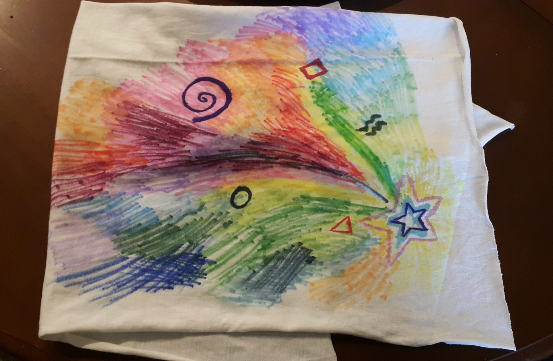 Tie-Dye Effect Painting with Markers