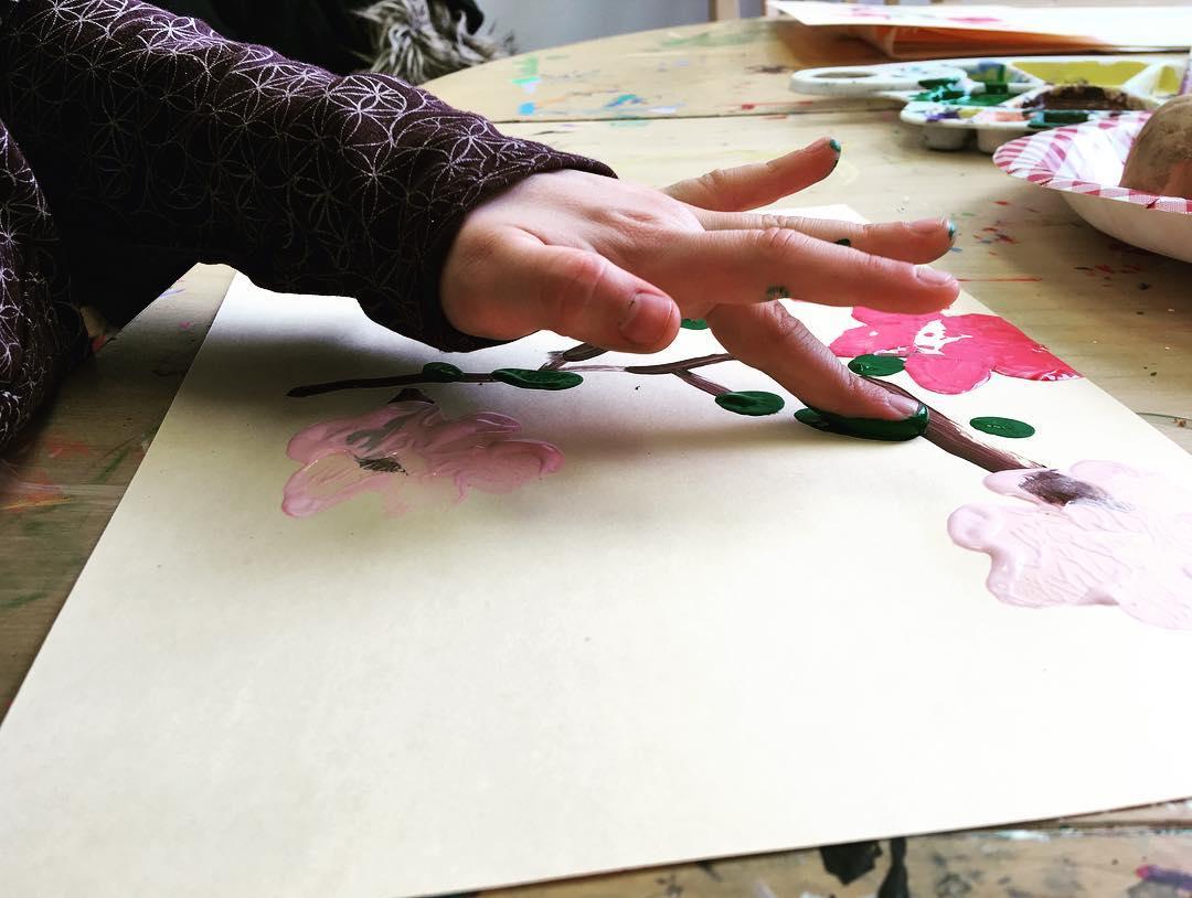 Cherry Blossom DIY Art Activity