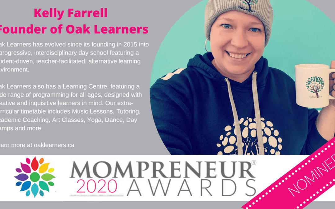 Oak Learners director nominated for the 2020 Mompreneur Awards