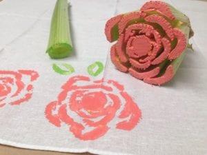 Arts & Crafts: Celery Stamped Napkins!