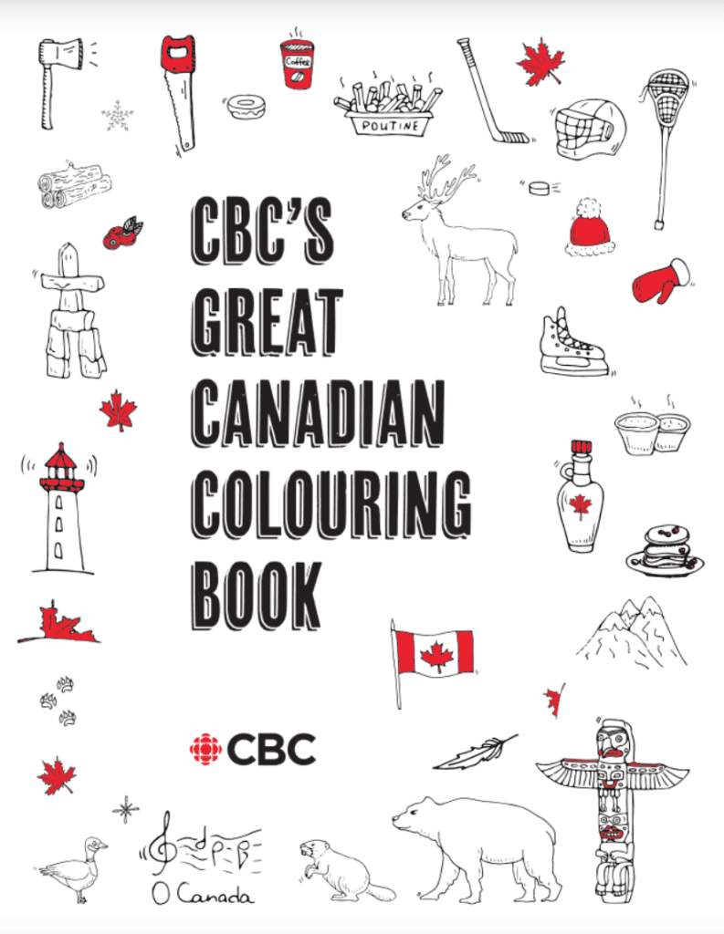 Colour with your Kids this Canada Day!