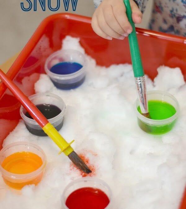 Outdoor Activities: Paint the Snow!