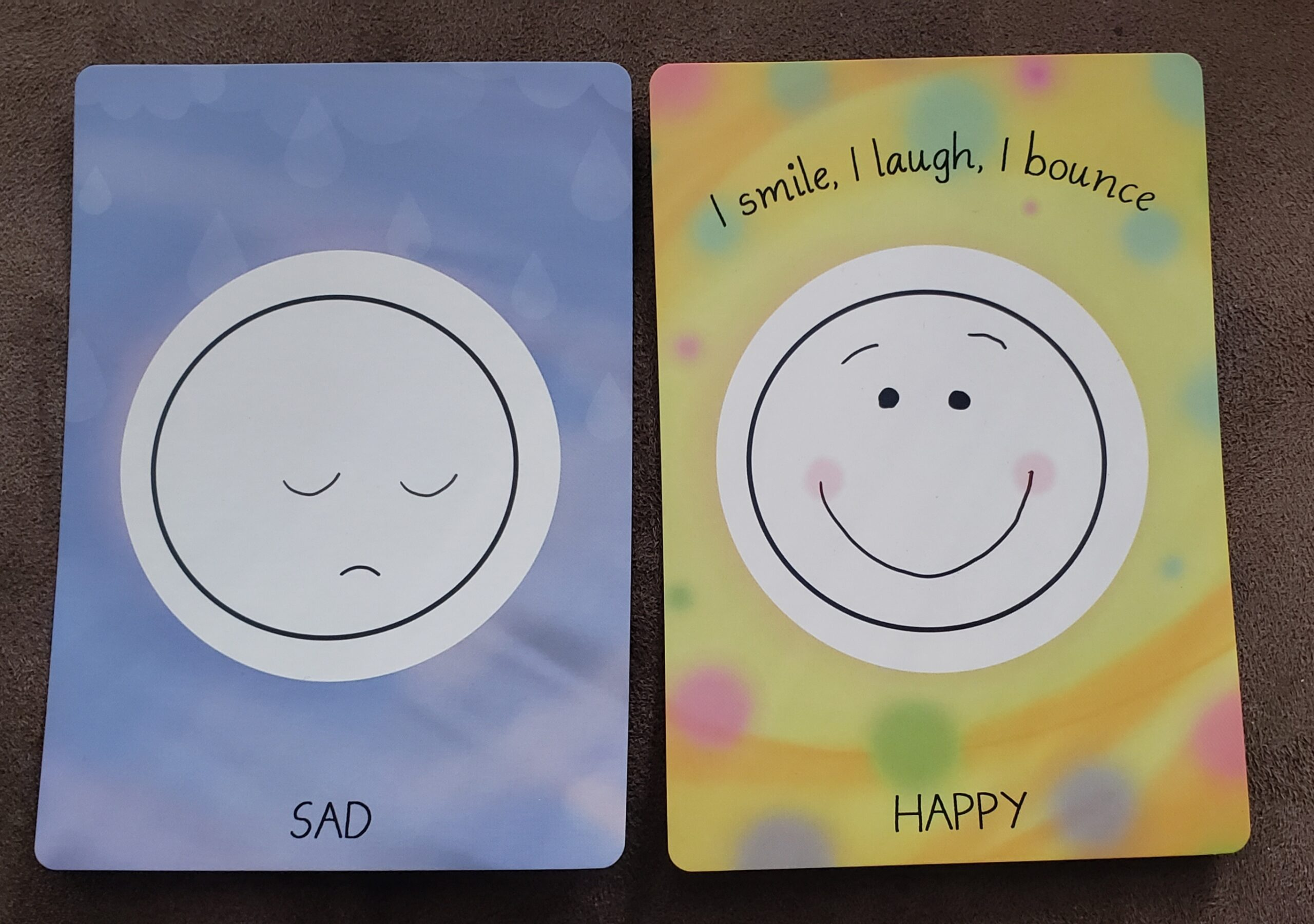 sad and happy cards front